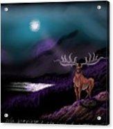 Heroic Landscapes #22- Great Irish Elk Acrylic Print