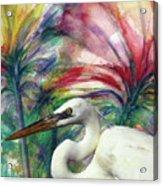 Heron Flair Acrylic Print