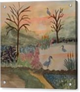 Heron's Hangout At Sunrise Acrylic Print