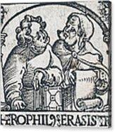 Herophilos, Erasistratus, Ancient Greek Acrylic Print