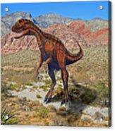 Herrarsaurus In Desert Acrylic Print