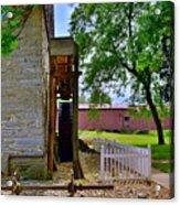Herr's Mill And Covered Bridge 2 Acrylic Print