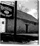 Hessian Powder Magazine Acrylic Print