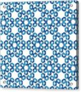 Hexagonal Snowflake Pattern Acrylic Print