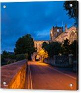Hexham Abbey At Night Acrylic Print