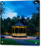 Hexham Bandstand At Night Acrylic Print
