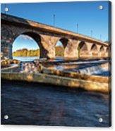Hexham Bridge And Fish Pass Acrylic Print