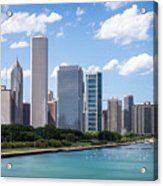 Hi-res Picture Of Chicago Skyline And Lake Michigan Acrylic Print