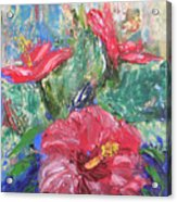 Hibiscus Abstract Acrylic Print