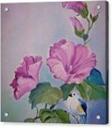 Hibiscus Birdie Acrylic Print