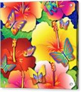 Hibiscus Feast Acrylic Print