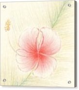 Hibiscus On Palm  Acrylic Print