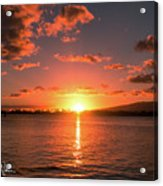 Hickam Sunset Acrylic Print