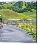 Hicks Valley Bike Ride Acrylic Print by Colleen Proppe
