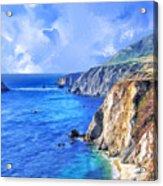 Hidden Beach At Big Sur Acrylic Print