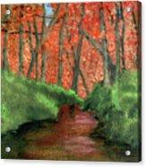 Hidden By Trees Acrylic Print