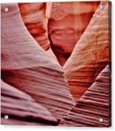 Hidden Canyon Angles. Acrylic Print