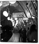 Paris Tube Station Cite - Hidden Kiss Acrylic Print