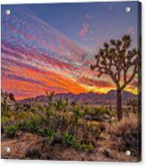 Hidden Valley Sunset Acrylic Print