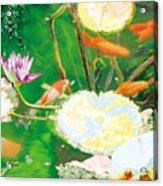 Hide And Seek Kio In The Green Pond Acrylic Print
