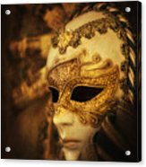 Hiding Behind The Mask Acrylic Print