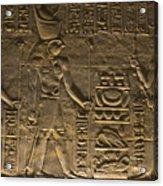 Hieroglyph At Edfu Acrylic Print by Darcy Michaelchuk