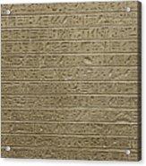 Hieroglyph Iv Acrylic Print