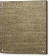 Hieroglyph V Acrylic Print