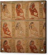 Hieroglyphic Detail Acrylic Print