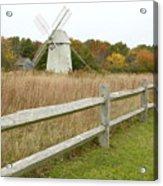 Higgins Farm Windmill Brewster Cape Cod Acrylic Print