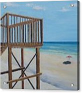 High Deck At Blue Mountain Beach Acrylic Print
