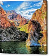 High Desert Lake Acrylic Print