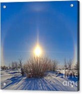 High Dynamic Range Photo Of Sundogs Acrylic Print