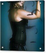 High Fashion Female Mystery Dancer Acrylic Print