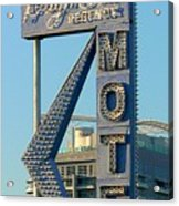 High Hat Motel Las Vegas Acrylic Print