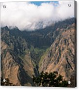 High In The Andes Acrylic Print