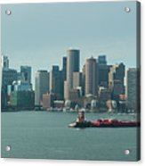 High Resolution Panoramic Of Downtown Boston During The Day Acrylic Print