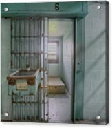High Risk Solitary Confinement Cell In Prison Acrylic Print