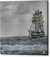 High Seas Sailing Ship Acrylic Print by Randy Steele