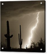 High Southwest Desert Lightning Strike Acrylic Print