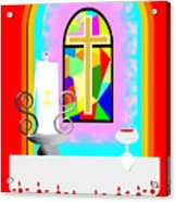 High Stained Glass Acrylic Print
