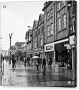 High Street Rhyl On A Wet Summers Day North Wales Uk Acrylic Print