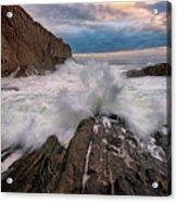 High Tide At Bald Head Cliff Acrylic Print