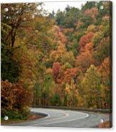 High Walls Of Fall Colors Acrylic Print