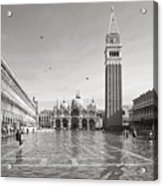 High Water In S.marco Square Acrylic Print