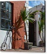 High Wheel Bicycle In Bermuda Acrylic Print