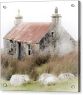 Highland Cottage In The Mist Acrylic Print