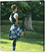 Highland Dancer Acrylic Print