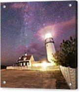 Highland Light Truro Massachusetts Cape Cod Starry Sky Shadow Yard Acrylic Print