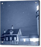 Highland Lighthouse Truro Ma Cape Cod Monochrome Blue Nights Acrylic Print